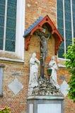 Das alte Kruzifix Stockfoto