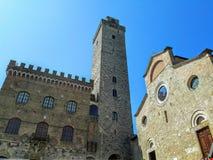 Das alte mediaval Gebäude in Toskana Stockbild