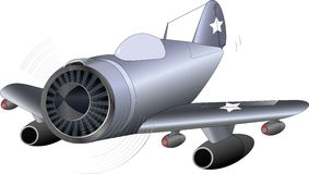 Das alte Militärflugzeug Lizenzfreie Stockbilder