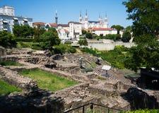 Das alte römische Theater von Fourviere in Lyon Frankreich lizenzfreie stockfotografie