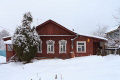Das alte russische Haus in Zvenigorod, Russland Lizenzfreie Stockfotografie
