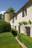 Das alte Schloss Allemagne in Südfrankreich Stockfoto