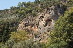 Das alte Schloss im Felsen 1 Stockbild