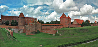 Das alte Schloss in Malbork - Polen. Lizenzfreies Stockfoto