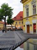 Das alte Sibiu, Rumänien Stockfotos