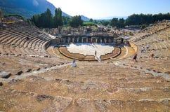 Das alte Theater in Ephesus, die Türkei Lizenzfreie Stockfotos