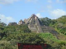 Das alte Tonina bei Mexiko stockbilder