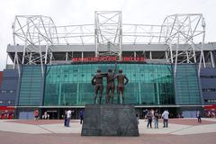 Das alte Trafford Stadion Manchester Uniteds stockbilder