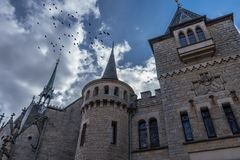 Das alte und acient Marienburg-Schloss, Deutschland Lizenzfreie Stockbilder