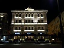Das alte Vanoli-Gebäude in Triest Lizenzfreies Stockbild