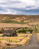 Das alte verlassene townsite von Goodnoe Washington Lizenzfreies Stockfoto
