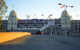 Das alte Wembley Stadium, London, England Stockbilder