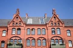 Das alte Ziegelsteinhaus Stockfotografie