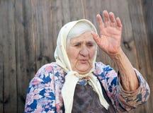 Das Alter der alten Frau 84 Jahre Stockbild