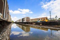 Das alter Zug Park Warterepai Lizenzfreie Stockfotografie