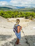 Das Amphitheater Epidaurus lizenzfreie stockfotos