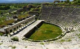 Das Amphitheater von Aphrodisias von Caria, die Türkei stockfotos