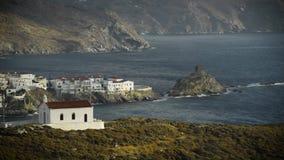 Das Andros-Dorf Chora von Andros-Insel in den Kykladen, Griechenland stock footage