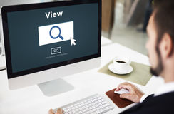 Das Ansicht-Suchsuchen kontrollieren Visions-Konzept stockbilder
