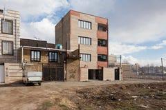 Das Apartmenthaus im Iran Stockbilder