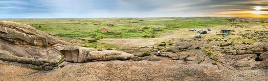 Das archäologische Monument Terekty-Aulie Lizenzfreies Stockfoto