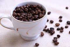 Das Aroma von Kaffeebohnen lizenzfreies stockfoto