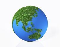 Das Asien wird durch Gras und Blumen bedeckt Lizenzfreie Stockbilder