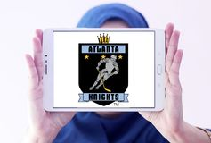 Das Atlanta adelt Eishockey-team-Logo Stockfoto