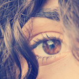 Das Auge der Frau Stockbilder