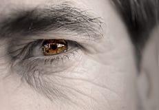 Das Auge des älteren Mannes Stockbild