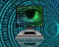 Das Auge des Internets Stockfoto