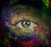 Das Auge des Raumes lizenzfreie abbildung