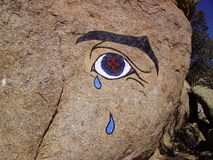 Das Auge des Sandias Stockbild