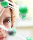 Das Auge eines Forschers Lizenzfreies Stockfoto