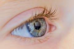 Das Auge eines jungen Mädchens Stockfotos