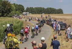 Das Ausbrechen - Tour de France 2018 Lizenzfreie Stockbilder