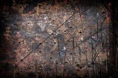 Das ausführliche Fragment des strukturierten Holztischs in der Werkstatt mit eindrucksvoller Struktur, Hintergrund, vintate, Naha Stockbild