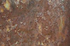 Das ausführliche Fragment einer rostigen Oberfläche des Metalls Stockbild