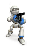 Das Ausfragen durch einen Roboter Stockfoto