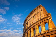 Das ausgezeichnete Colosseum bei Sonnenuntergang, Rom, Italien, Europa lizenzfreies stockbild