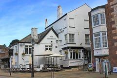 Das Aussicht-Gasthaus, auf Exeter Quay stockfoto
