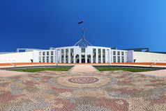 Das australische Parlament bringen in Canberra unter Stockfotografie