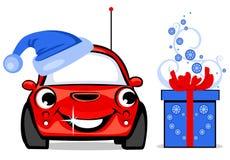 Das Auto des glücklichen neuen Jahres Stockbild
