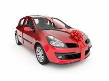 Das Auto in einem Geschenk Stockfotografie