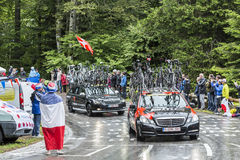 Das Auto laufenden Teams BMC - Tour de France 2014 Stockfotografie
