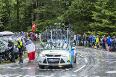 Das Auto von NetApp-Endurateam - Tour de France 2014 Stockbilder