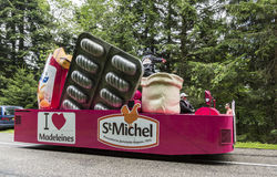 Das Auto von St. Michel Madeleines - Tour de France 2014 Stockfotos