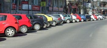 Das Autoparken stockfoto