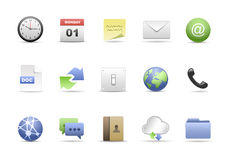 Das Büro-Ikonen-Set Lizenzfreies Stockfoto
