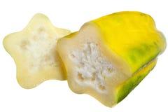 Das babaco auf weißem Hintergrund lizenzfreies stockbild